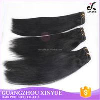 Wholesale price high quality unprocessed brazilian hair extension Grade 7A straight hair flat weaving