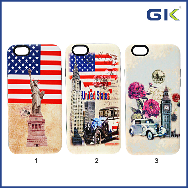 [GGIT] Fashion National Flag Pattern 2 in 1 Cell Phone Cover For IPhone 6 Combo Case