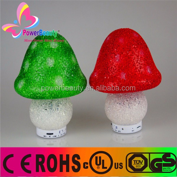 Mushroom Shape bluetooth speaker music player mini speakers with Suction cup stand function
