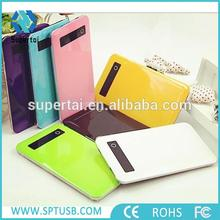 2016 Universal New Ultra Slim Colorful Touch Screen Power Bank 5000mAh for Mobile Phone