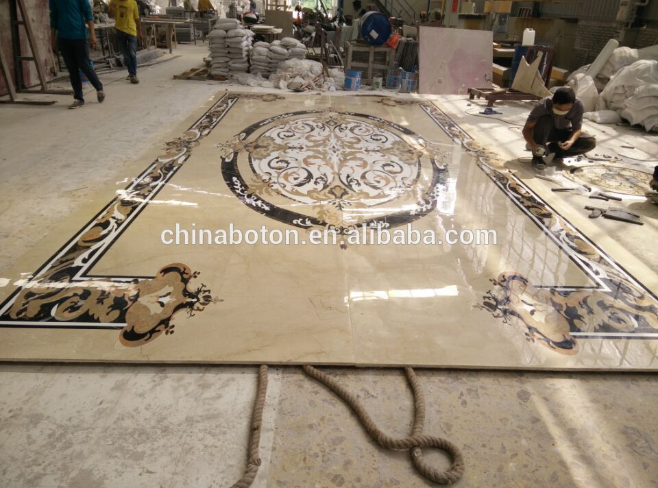2015 New Design Marble Tile Round Mosaic Medallion Floor PatternEntry