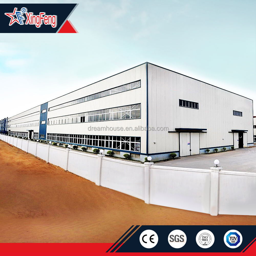 ISO certification steel structure prefabricated steel warehouse shed/two story steel structure warehouse