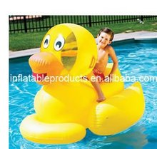 Inflatable Duck Rider On Beach Water Toys Animal Rider Float For Kids