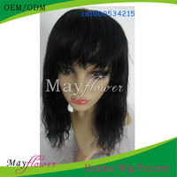 Wholesale low price Virgin remy brazilian hair lace front wig for African American natural straight for salon