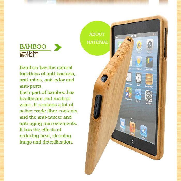 2014 New products for wood bamboo ipad air case wholesale guangzhou manufacturer
