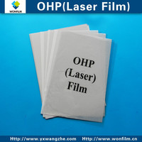 A4 210*297mm 100mic OHP laser print film for black and white printer