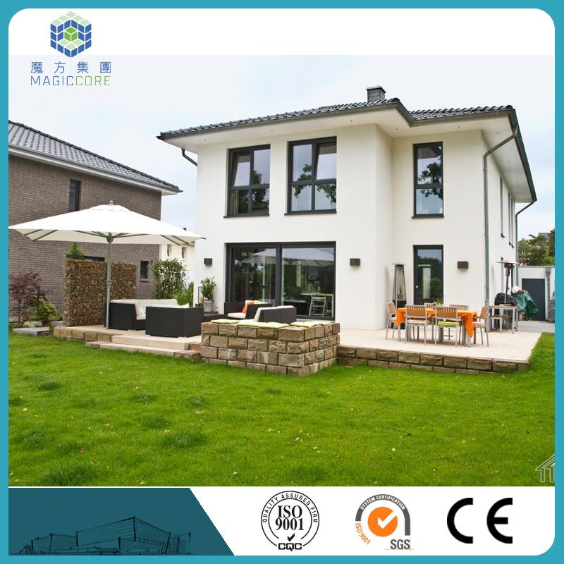 mobile villa recycle used steel structure flat roof prefab villa house