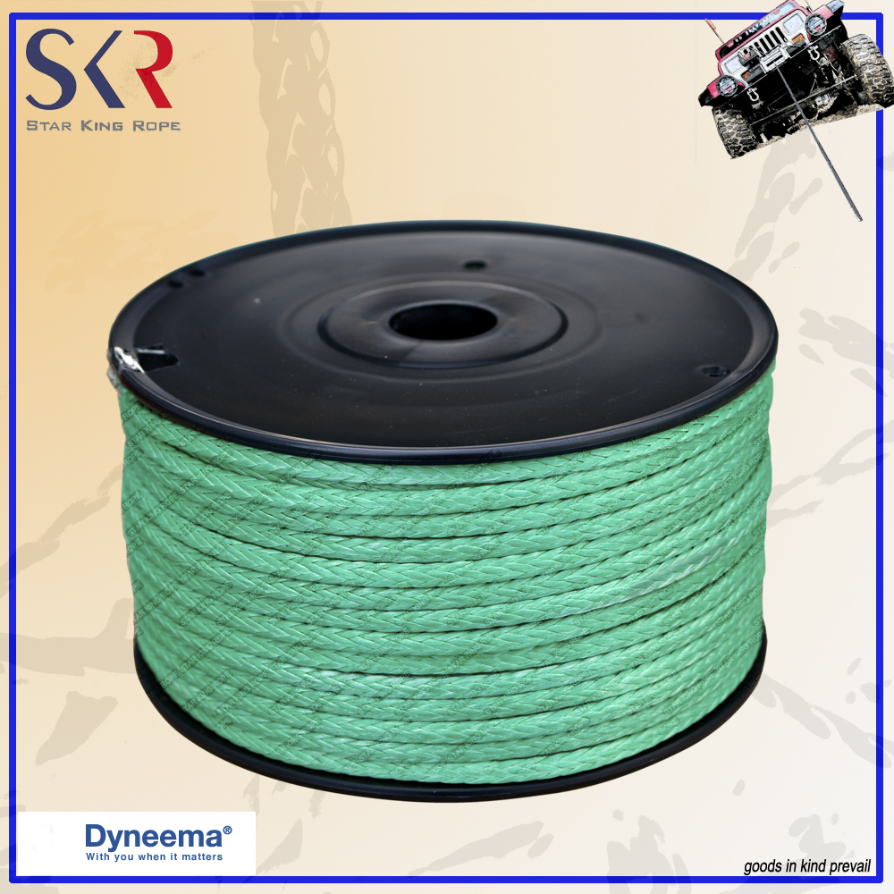 3/8''x50' 3/8''x75' 3/8''x100' dyneema winch line rope low factory price