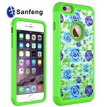 Various phone model case changeable color pc+silicone phone case for Iphone 6s plus