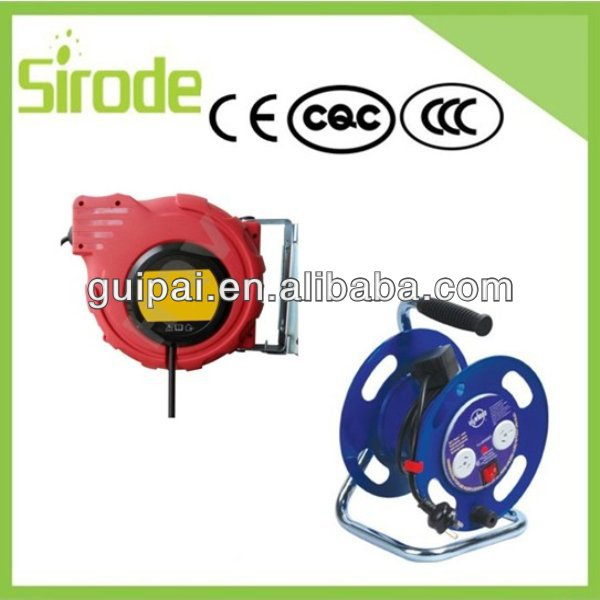 Electrical Power Spring Retractable Plastic Automatic Cable Reel