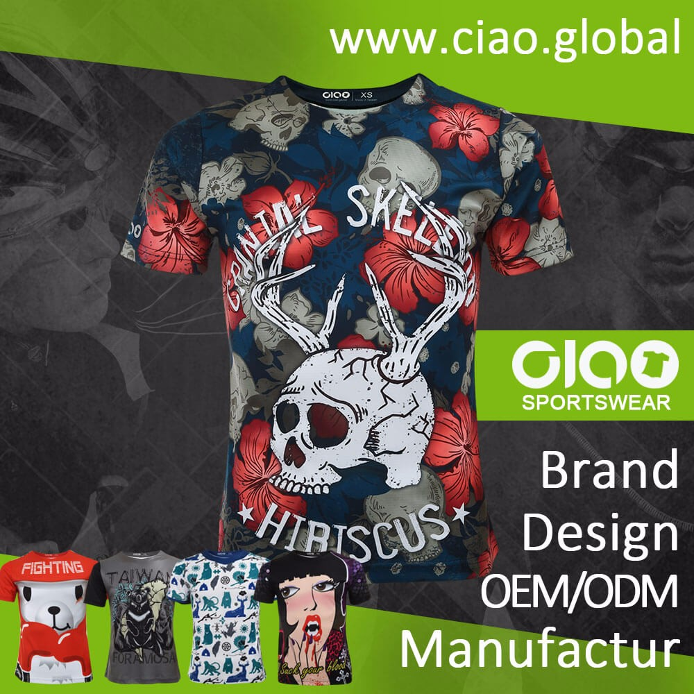 Ciao sportswear online wholesale shop sublimation printing dry fit sports tshirts t shirt t-shirt tee shirt with high quality