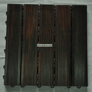 Outdoor Strand woven Bamboo Decking /303*26 Dark Brown DIY Solid Decking Tile
