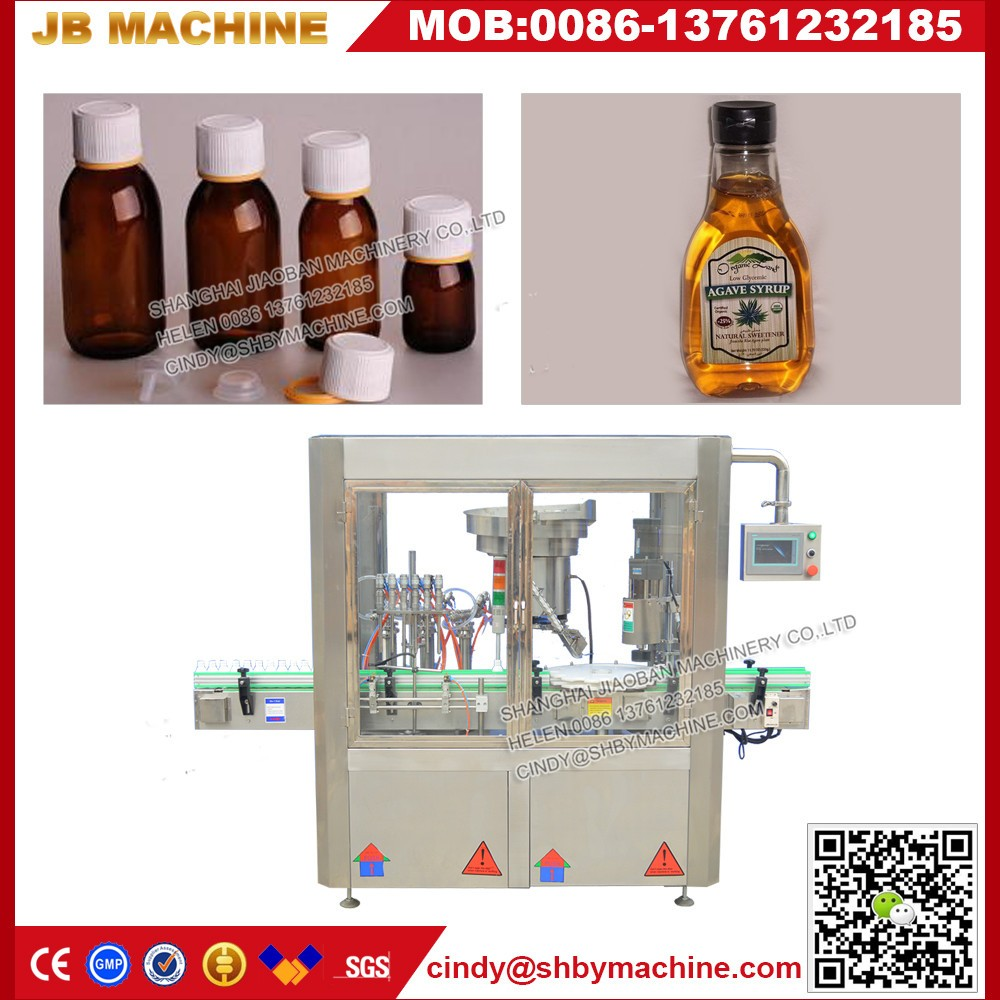Automatic high speed 4 heads dish Soap Filler Capper injectable Liquid Filling Machine with low cost