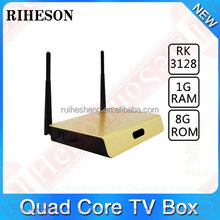 Best iptv receiver strong iptv set top box RK3128 Quad core android 4.4 smart android tv box
