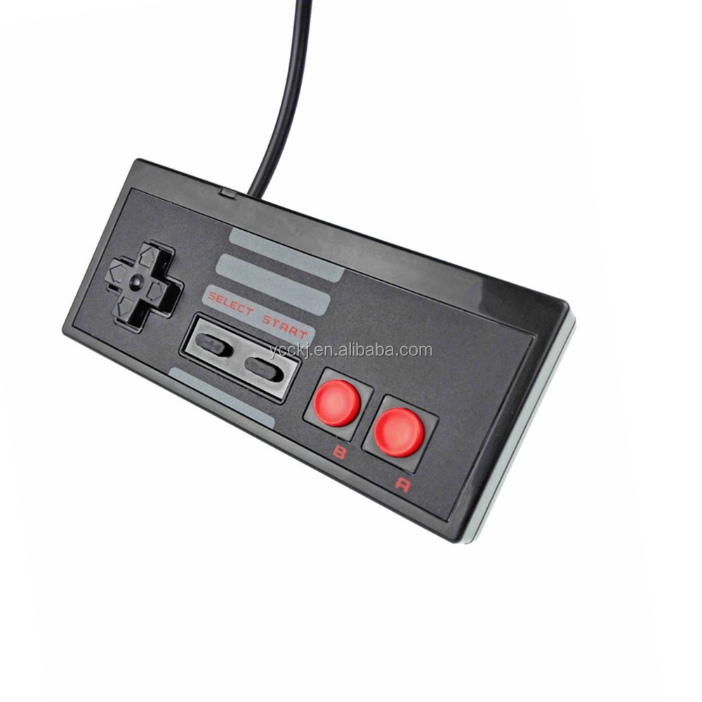 Wired game controller gamepad for NES mini classic edition the new console BLACK