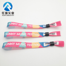 colorful event music festival party popular factory custom fabric wristbands