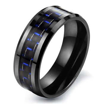 Black designer ceramic zirconia carbon fibre ring wholesale
