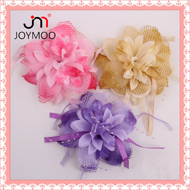 Fabric Flower Prop Purple Pink Light Brown Handmade Flowers Bouquet Design Making