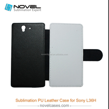 Novelcases-Shop top selling sublimation leather phone cover for Sony Z L36H