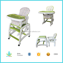 EN14988 Certificated <strong>Kids</strong> Dining Room Furniture Plastic Child Rockers Babies Swing 4 in 1 Baby Highchair