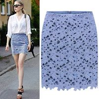 wholesale ladies fashion hollow weave hem short skirt designs