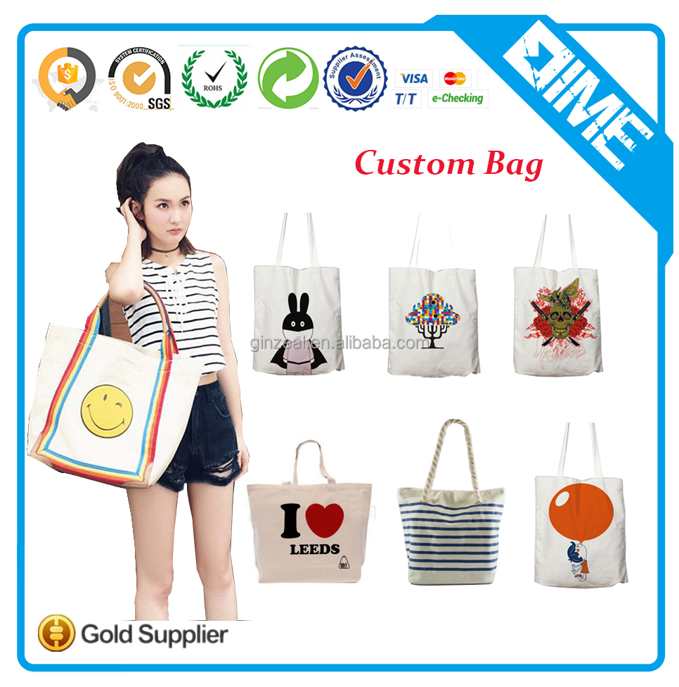 Wholesale Cheap Cute Calico Tote Custom Printed Cotton Bags
