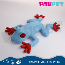 Customized fashion plush dog pet toys with 1squeaker real frog shape