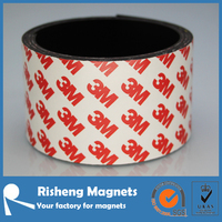 50.8mm Wide Format Flexible Magnet Tape With High Quality 3M Self Adhesive magnetic strip