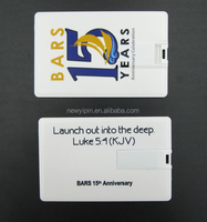 New Yipin High-speed USB 2.0 Business Card Model Memory Custom Design Credit Card USB Flash