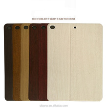 Factory OEM Factory New Wood skin design leather flip protective case for ipad air 2