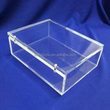 Custom Hinged-lid Clear Acrylic Jewelry Box Bangle Bracelet Display case Manufacturer