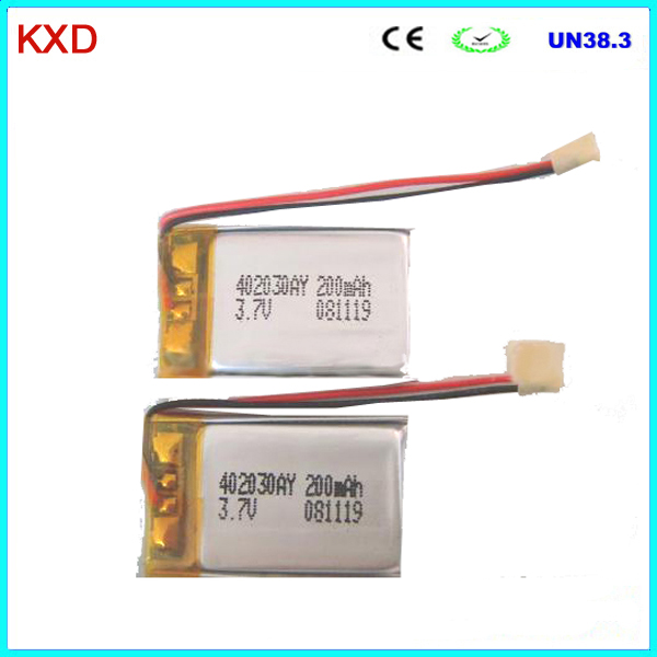 Rechargeable polymer li ion battery 042030 made in china for Avantage batterie lithium ion