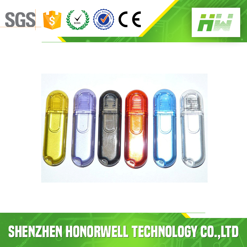 China supplier Customized Transparent plastic u disk usb flash drive 8g16g bulk cheap