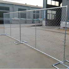 6' x 12' Chain Link Temporary Fence with Metal Base