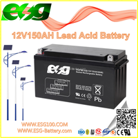 12V150AH New products Manufacture VRLA high rate AGM SLA MF Solar UPS solar plante lead acid deep cycle battery