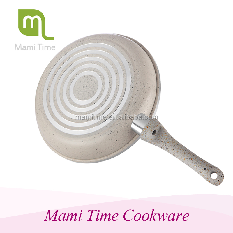 New arrival glass lid ceramic deep frying pan with best quality