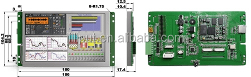 UART LED Display terminal for Human Machine Interface with 32-bit 400MHz Frequency CPU