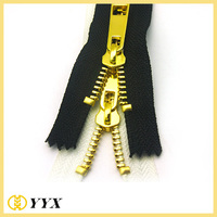 cheap price #3 metal zipper gold teeth for jeans