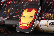 innovative alloy shell Golden iron Man high capacity Portable Cool Power Bank12000mAh for young people