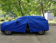 All weather protection inflatable car cover with bule oxford cloth for car