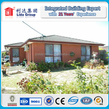 Red Brick Red Tiles Sloping Roof Prefab Country Villas in Burst