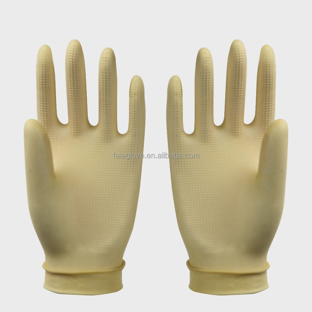 CE 28g 23cm short length gloves household latex gloves factory in Jiangsu rubber glove cleaning series for protecting the hand
