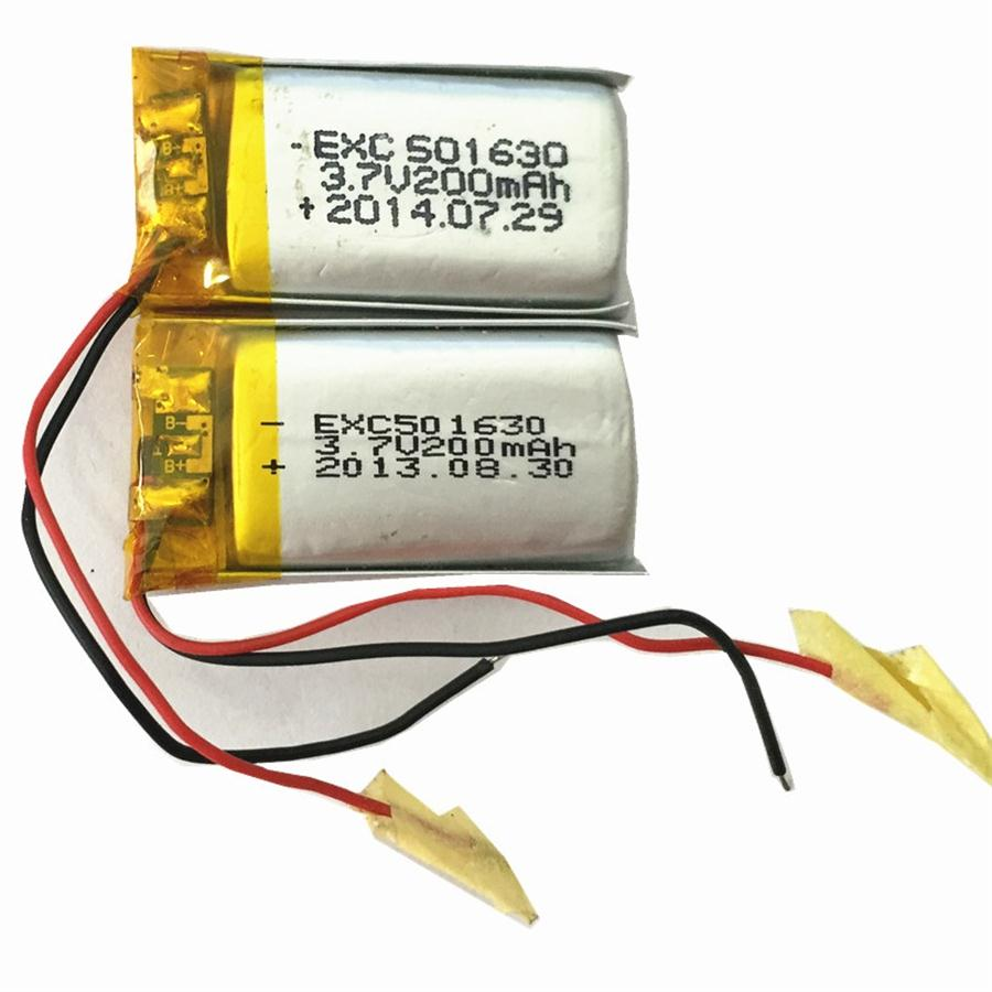 3.7V 200mAh 5X16X30mm rechargeable Li-Polymer Battery cell with PCM