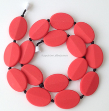 High Quality Alphabet/Letter Pendant Food Grade Silicone Teething Beads For Jewelry