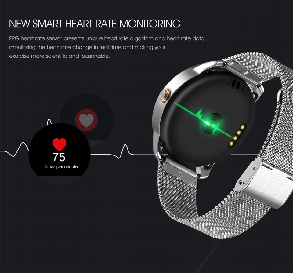 Multifunctional programmable heart rate waterproof smart watch with CE certificate