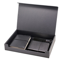 Inspirational corporate gifts for business men with A6 notebook&key fob& wallet