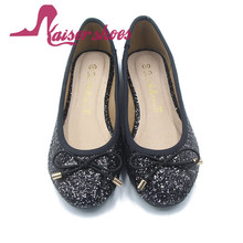 China cheap wholesale latest fancy flat ladies shoes