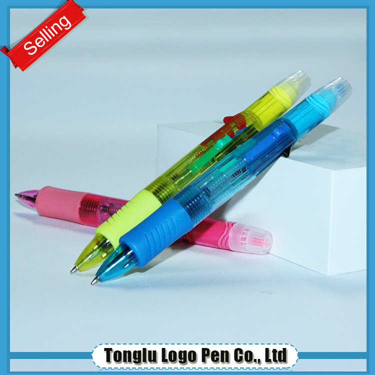 panda ball ballpoint refill ball pen with highlighter