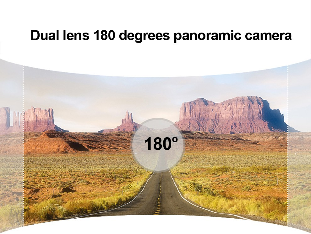 W026 Dual Lens 180 Degrees Panoramic Camera