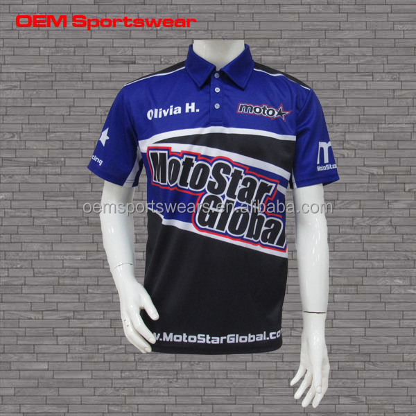 Custom oem team racing jersey motorcycle&auto racing shirt